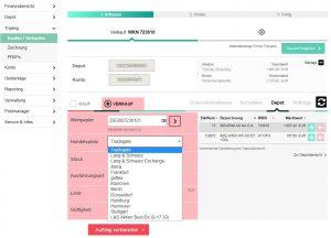 Smartbroker Orderaufgabe Screenshot