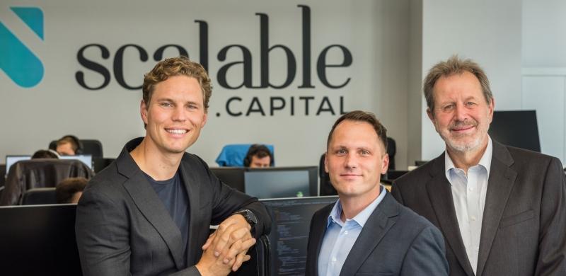 Die Gründer von Scalable Capital aus München (Quelle: Scalalble Capital)